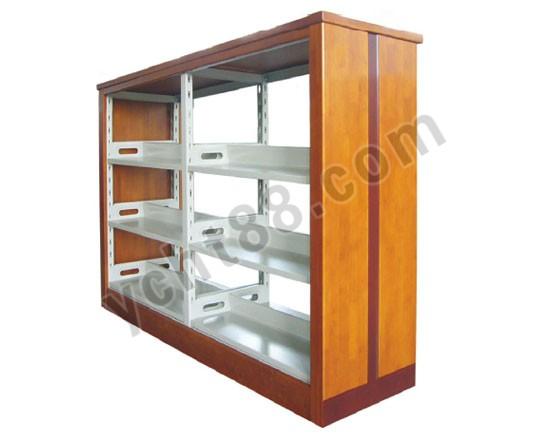 点击查看商品:高档三层双面双柱钢木书架