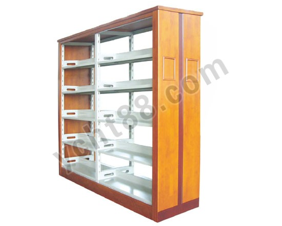 点击查看商品:高档五层双面双柱钢木书架
